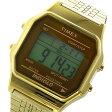 タイメックス TIMEX デジタル クラシック クオーツ ユニセックス 腕時計 時計 TW2P48700 ブラウン/ゴールド【楽ギフ_包装】