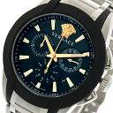 ヴェルサーチ VERSACE 腕時計 メンズ VEM800218 クォーツ ブラック シルバー【送料無料】