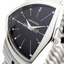 ハミルトン HAMILTON 腕時計 メンズ H24411232 ベンチュラ VENTURA 蛇腹ベルト クォーツ ブラック シルバー ブラック【送料無料】