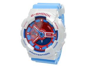 カシオCASIOGショックG-SHOCKブルー&レッドシリーズクオーツデジタルメンズ腕時計時計GA-110AC-7【_包装】