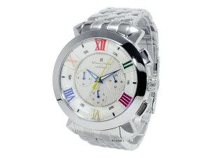 サルバトーレマーラクオーツメンズクロノ腕時計時計SM-14107-SSWHCL【_包装】