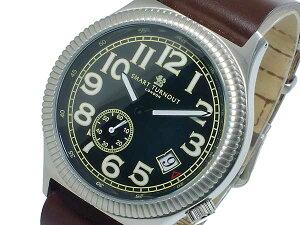 スマートターンアウトSMARTTURNOUTクオーツメンズ腕時計時計ST-007SBK替えベルト付き【_包装】