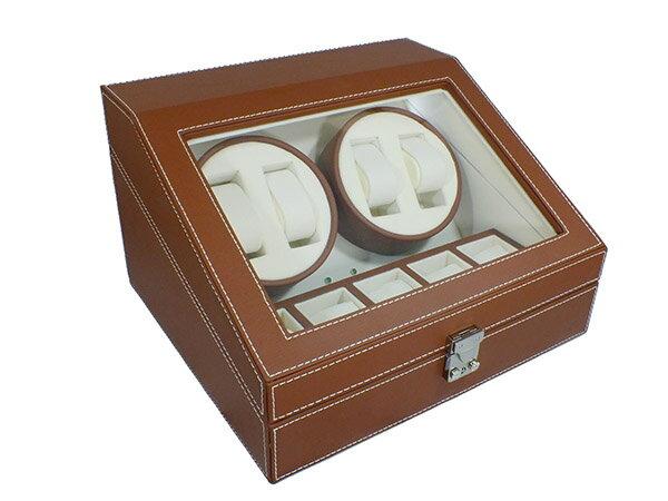 エスピーアイ SPI  ワインディングマシーン レザータイプ 4連 SP43014LBR ブラウン:リコメン堂生活館