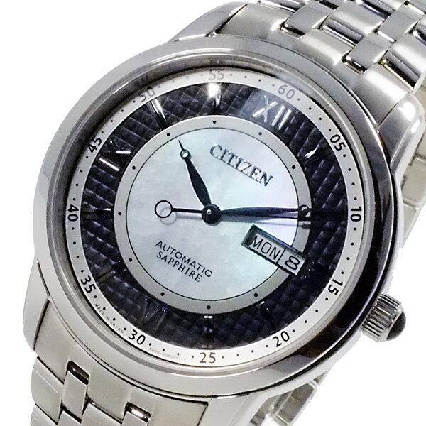 シチズン CITIZEN メカニカル 日本製 自動巻 メンズ 腕時計 時計 NH8300-57E ブラック【楽ギフ_包装】【S1】:リコメン堂生活館