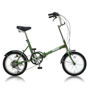 レイチェルRaychellMF-166R折りたたみ自転車22918カーキ代引き不可