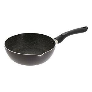 ベストコ IHディープパン 22cm ブラック テフロンインフィニティ バルベーラ ND-1313