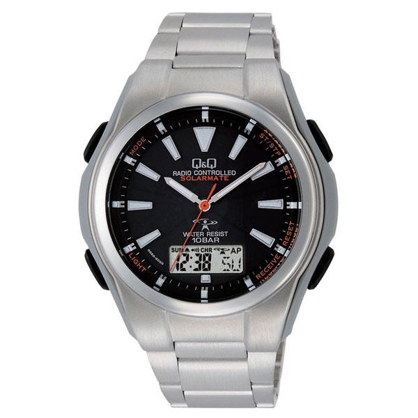 【CITIZEN】シチズン Q&Q 電波ソーラー メンズ腕時計MD02-202 SOLARMATE (ソーラーメイト) /10点入り(代引き不可)【S1】:リコメン堂生活館