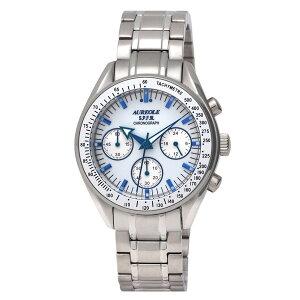 【AUREOLE】オレオールメンズ腕時計SW-582M-3アナログ表示クロノグラフ24時間表示付10気圧防水/5点入り(き)【RCP】