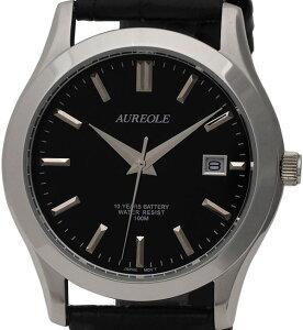 【AUREOLE】オレオールメンズ腕時計SW-409M-6アナログ表示曜日付10気圧防水/10点入り(き)【RCP】