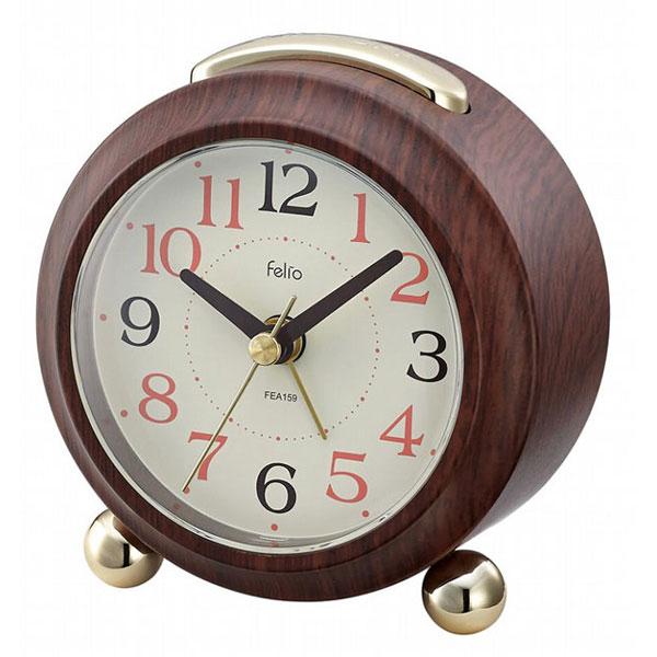 置時計 FEA159 マコーレ ブラウン/60点入り(代引き不可)【S1】:リコメン堂生活館