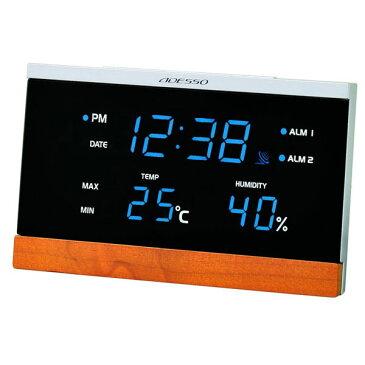 LED温湿度電波時計 C-8344 LED温湿度電波時計 C-8344/20点入り(代引き不可)