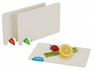 トントンまな板(日本製) トントンまな板 ホワイト×グリーン/40点入り(代引き不可)