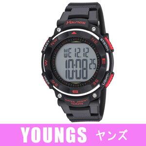 【YOUNGS】ヤンズメンズ腕時計YP-11563-Aデジタル多機能付10気圧防水メンズ腕時計YOUNGSヤンズYP-11563-A/10点入り(き)【RCP】