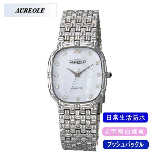 【AUREOLE】オレオール メンズ腕時計 SW-475M-3 アナログ表示 文字盤白蝶貝 日常生活用防水 /5点入り(代引き不可)【S1】:リコメン堂生活館
