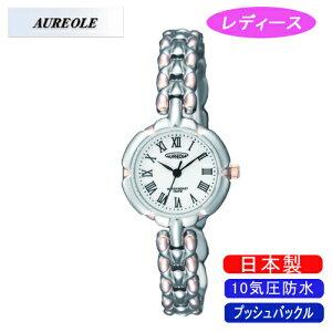 【AUREOLE】オレオールレディース腕時計SW-496L-Dアナログ表示10気圧防水日本製/5点入り(き)【RCP】