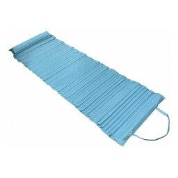 ユーザー 枕付きリラックスマット 600×1765mm ライトブルー U-Q890【送料無料】