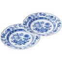 フッチェンロイター フッチェンロイター ブルーオニオン ペアプレート ブルーオニオン 洋陶器 洋陶皿 中皿セット BON P192(代引不可)