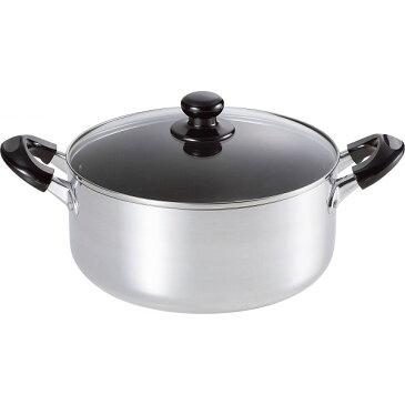 ささら アルミ大型鍋(24 cm ) 鍋ケトルフライパン 内面加工アルミ鍋 両手鍋 SM-8817(代引不可)