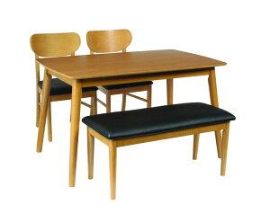 ダイニングテーブル4点セットダイニングセット4点ダイニングテーブルベンチチェアチェアー北欧天然木(シープ)()【送料無料】【smtb-f】