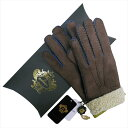 OROBIANCO オロビアンコ メンズ手袋 ORM-1410 Leather glove 羊革 DARKBROWN LIME サイズ:8.5(24cm) プレゼント クリスマス【送料無料】【smtb-f】