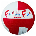 ミカサ(MIKASA) ドッジボール ふあふあドッジ2号縫い ホワイト×レッド FFD2WR
