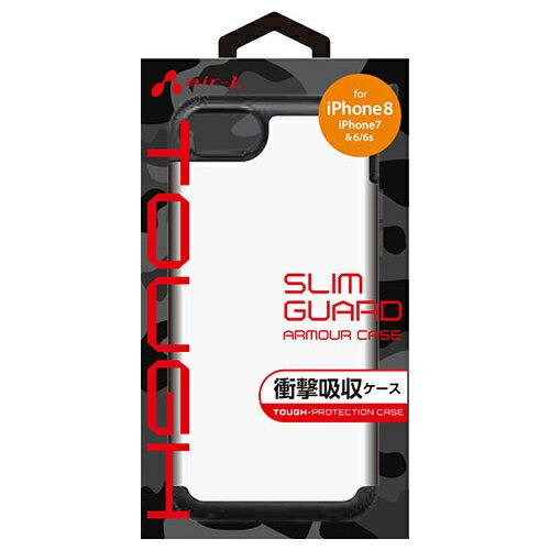 エアージェイ iPhone8 7用耐衝撃スリムバックカバー WH AC-P87-GAWH AC-P87-GAWH スマートフォン タブレット 携帯電話(代引不可)