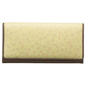 草木染め印伝 つた桜柄長財布 M81101029(代引不可)【送料無料】