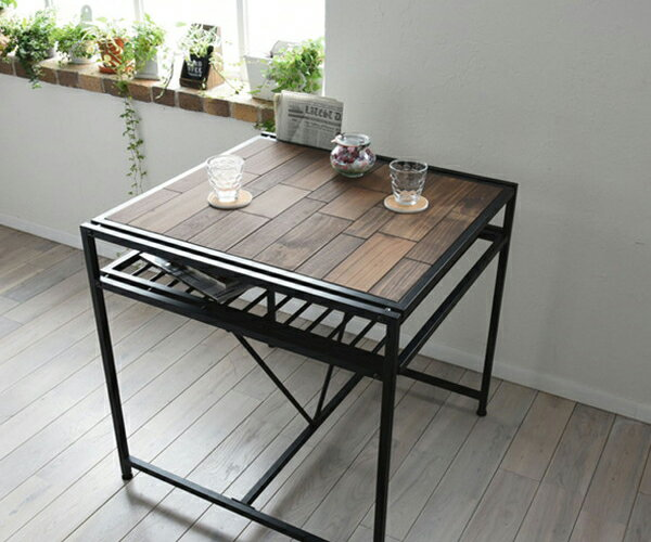 grantGRANTダイニングテーブル幅75天然木北欧木製テーブル作業台ダイニングセット北欧木製アイアン(代引不可)【送料無料】