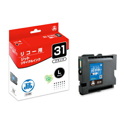 ジット リサイクルインク リコーGC31KH互換 ブラック 1 個 JIT-R31BH 文房具 オフィス 用品