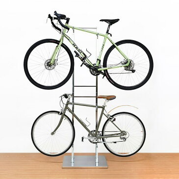 日本製 室内自転車スタンド 2台用 自転車置き 自転車 収納 室内 国産 ディスプレイラック(代引不可)【送料無料】