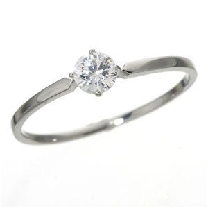 大きめだけPT900/0.3ctダイヤモンドリング81610/4爪19