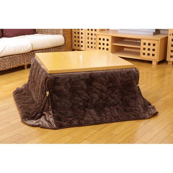 フィラメント素材 省スペース こたつ薄掛け布団単品 『フィリップ』 ブラウン 180×220cm