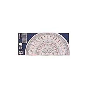 (業務用200セット)コンサイス半円分度器S-1212cm×200セット