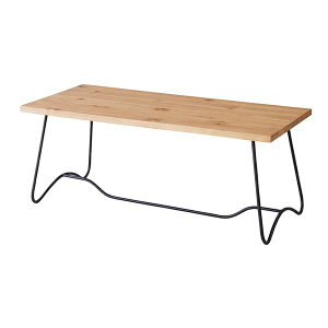 コーヒーテーブル(天然木/アイアン)LEIGHTON(レイトン)ミディアムブラウンNW-111MBR