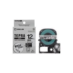 (業務用50セット)キングジムテプラPROテープマット透明/黒文字SB12T×50セット
