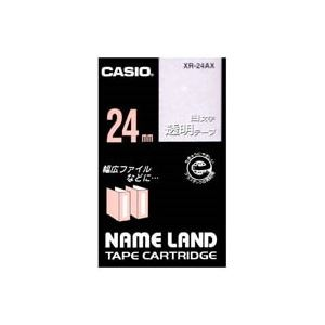 (業務用30セット) カシオ CASIO 白文字テープ XR-24AX 透明に白文字 24mm ×30セット