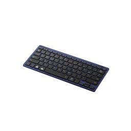 エレコム Bluetoothミニキーボード/パンタグラフ式/軽量/マルチOS対応/ブルー TK-FBP102BU