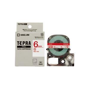 (業務用50セット)キングジムテプラPROテープSS6R白に赤文字6mm×50セット