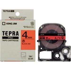 (業務用50セット)キングジムテプラPROテープSC4R赤に黒文字4mm×50セット