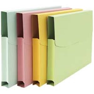 (業務用100セット) ジョインテックス 紙製ケースファイルA4 3個入 緑 D072J-GR ×100セット【S1】:VANCL