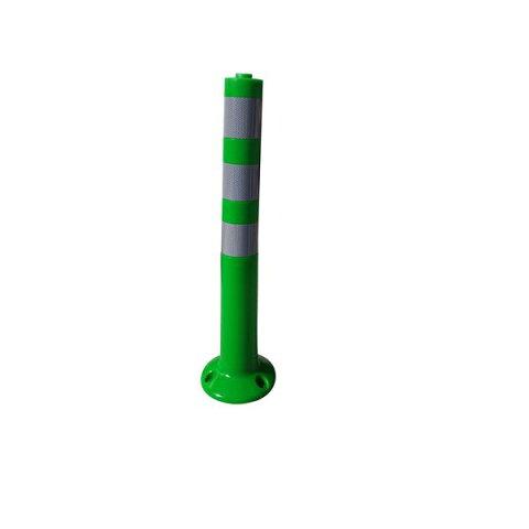 【1本】PVC製視線誘導標/ソフトコーンH 【緑色】 高さ750mm 専用固定アンカーセット【代引不可】