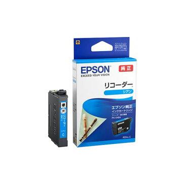 (まとめ)エプソン インクカートリッジ リコーダーシアン RDH-C 1個 【×5セット】