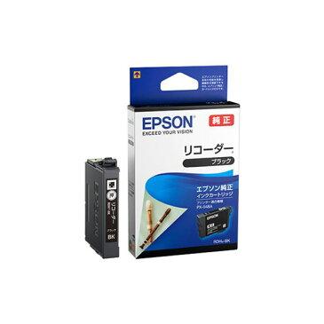 (まとめ)エプソン インクカートリッジ リコーダーブラック RDH-BK 1個 【×5セット】