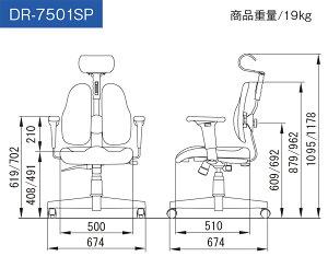 オフィスチェアデスクチェアデュオレストDUORESTDR-7501SP【送料無料】(き)