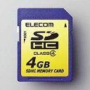[ELECOM(エレコム)] [SDHC規格準拠][4G]SDHCメモリカード MF-FSDH04G(代引き不可)