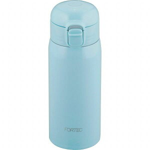 和平フレイズ ステンレスボトル 350ml FPR-8299 ライトブルー ワンタッチ栓 水筒 保温 保冷