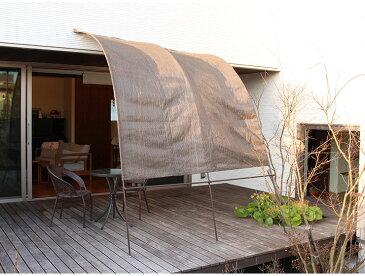 日よけ アーチ型サンシェード 2m幅 サンシェード シェード アーチ型 たてす 洋風 洋風たてす 雨よけ 目隠し 窓 ガーデン(代引不可)【送料無料】