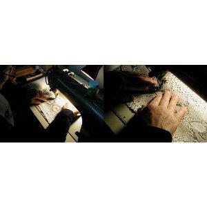 錦ヘビ無双二つ折財布さいふサイフメンズ錦蛇革使用日本製