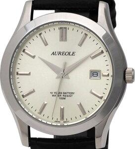 【AUREOLE】オレオールメンズ腕時計SW-409M-7アナログ表示曜日付10気圧防水/1点入り(き)