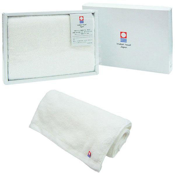 今治産タオル バスタオル オフホワイト (1000匁パイル)ギフト箱入り 日本製 /50点入り(代引き不可):VANCL